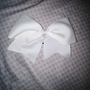 Softball/cheer bow with hair tie